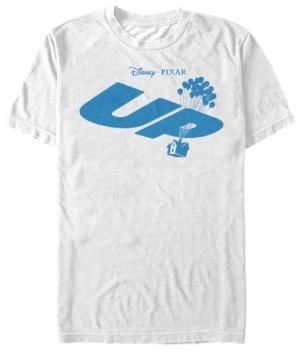 Disney Pixar Men's Up Blue Balloon House Logo, Short Sleeve T-Shirt