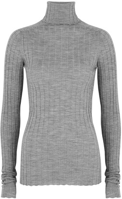 Petar Petrov Karen Grey Roll-neck Merino Wool Top