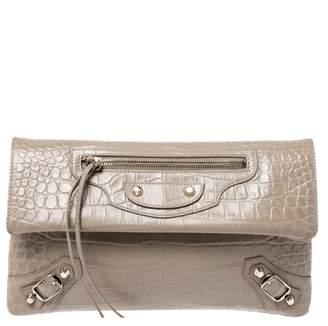 Balenciaga Envelop Beige Exotic leathers Clutch bags