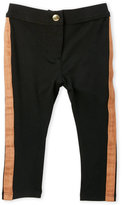 kardashian kids (Toddler Girls) Faux Suede-Trimmed Ponte Leggings