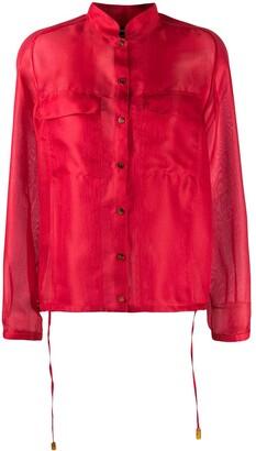 Giorgio Armani sheer drawstring shirt
