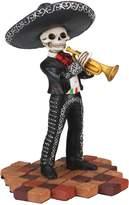 Summit Skeleton Skull Black Mariachi Band Trumpet Statue Figurine