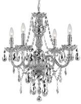 AF Lighting Elements Series Naples 4-Light Mini Chandelier in Silver