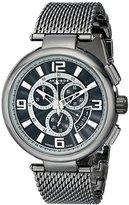 Akribos XXIV Men's AK772BK Silver-Tone Watch with Mesh Bracelet