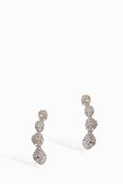Monica Vinader Nura Diamond Teardrop Climber Earrings