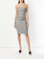 Thumbnail for your product : Moschino Pre-Owned Strapless Check Fitted Dress