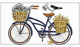 "Seashore Crab Bike Bicycle 100% Cotton Flour Sack Dish Tea Towel - Mary Lake Thompson 30"" x 30"""
