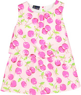Sweet & Soft Pink & White Cherries Tiered Dress - Toddler