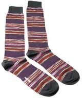 Missoni Gm00cmu4658 0001 Purple/gray Knee Length Socks.