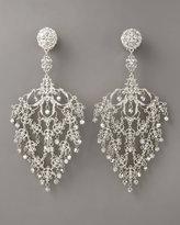 Jose & Maria Barrera Deco Filigree Earrings, Silvertone