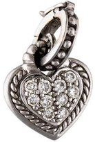 Judith Ripka 18K Diamond Heart Enhancer Pendant