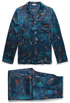 Derek Rose Brindisi 28 Printed Silk Pyjama Set