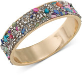 ABS by Allen Schwartz Gold-Tone Stone and Crystal Inlay Bangle Bracelet
