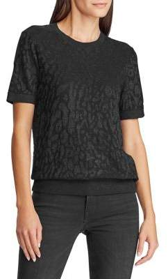 Lauren Ralph Lauren Textured Cotton-Blend Tee