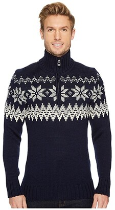 Dale of Norway Myking Sweater (C-Navy/Off-White/Light Charcoal) Men's Sweater