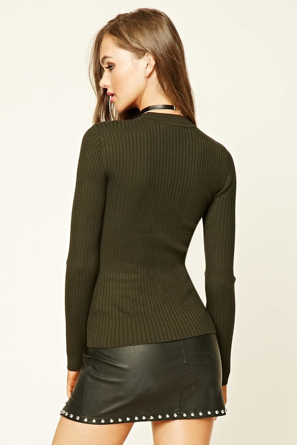 Forever 21 Ribbed Knit Top