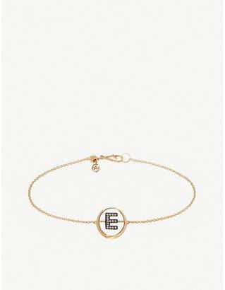 Annoushka 18ct yellow gold and diamond Initial E bracelet