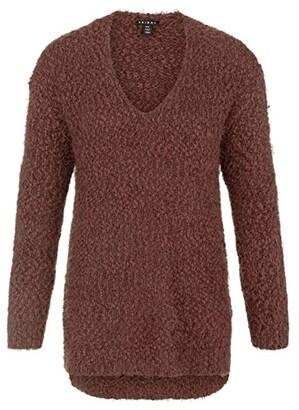 Tribal Long Sleeve V-Neck Sweater (Cinnamon) Women's Sweater