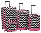 Rockland Escape 4pc Luggage Set - Multipink Dot