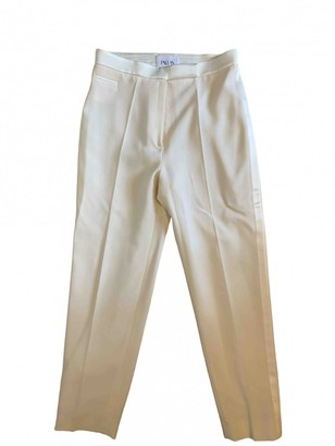 Pallas White Wool Trousers