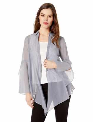Kenneth Cole Women's Long Sleeve TIE Front Blouse