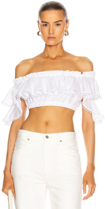Charo Ruiz Ibiza Cata Top in White | FWRD
