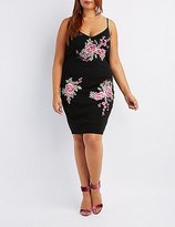 Charlotte Russe Plus Size Floral Embroidery Bodycon Dress