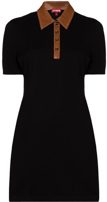 STAUD Jay polo-shirt mini dress