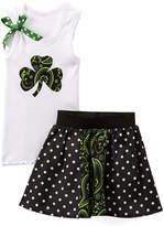 Beary Basics White Clover Tank & Dot Skirt - Toddler & Girls