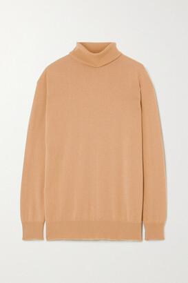 &Daughter + Net Sustain Casla Cashmere Turtleneck Sweater - Camel