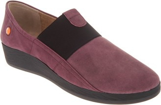 Fly London Softinos by Leather Gored Slip-on Shoes - Amo
