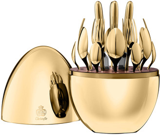 Christofle 24-Piece Gold Mood Flatware Service