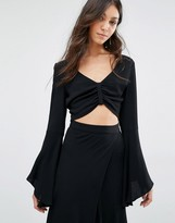 Flynn Skye Long Flute Sleeve Alyssa Crop Top