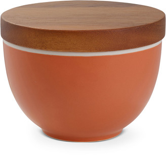 Nambe Prism Candle Bowl with Lid Persimmon
