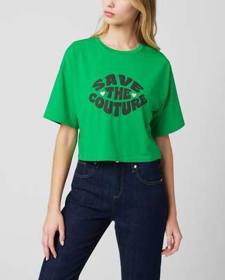 Juicy Couture SAVE THE COUTURE GRAPHIC BOXY TEE