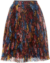 Burberry Silk Pleated Organza Skirt