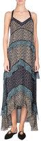 Proenza Schouler Tiered Leopard-Print Silk Maxi Dress, Multi Pattern