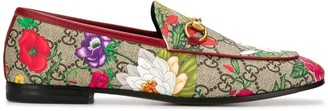 Gucci Flora GG Supreme loafers