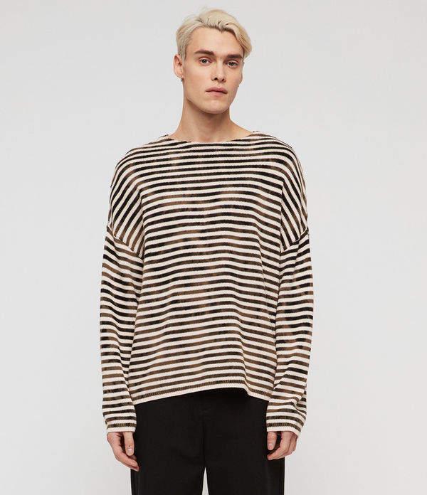AllSaints Acid Stripe Crew Sweater