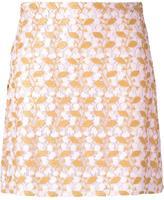 Giambattista Valli floral macramé straight skirt