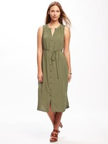 Old Navy Tie-Waist Midi Shirt Dress for Women