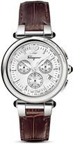 Salvatore Ferragamo Idillio Brown Leather Strap Watch, 42mm