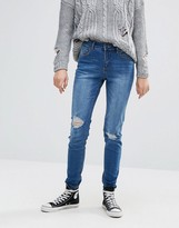 Pieces Perry Distressed Knee Skinny Jeans