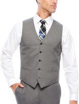 Jf J.Ferrar JF Stretch Gray Sharkskin Slim Fit Vest