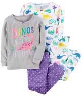 "Carter's Girls 4-12 Dinos are a Girls Best Friend"" Tops & Bottoms Pajama Set"