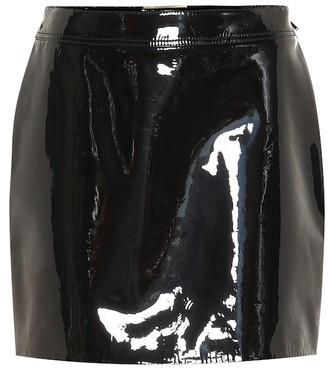 Saint Laurent Patent leather miniskirt