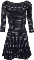 Morgan Two-Tone Jacquard Knit Dress