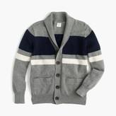 J.Crew Boys' shawl-collar striped cardigan