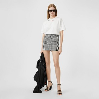 Burberry Quote Print Cotton Oversized T-shirt