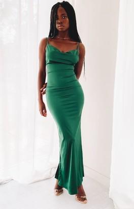 Beginning Boutique Kissing You Maxi Formal Dress Emerald